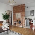 9-bucatarie separata partial de livingul unui apartament