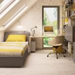 9-camera copil adolescent in alb gri si galben mansarda casa 99 mp