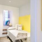 9-camera copil amenajata si decorata in alb si galben apartament 55 mp