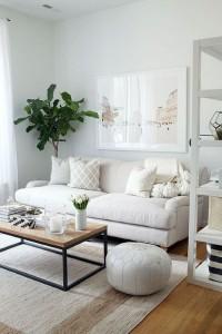 9-canapea alba si compacta decor living stil scandinav mic
