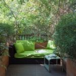 9-canapea imitatie rattan decor curte mica sau terasa