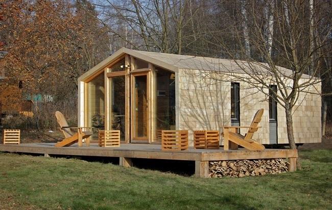 9-casa modulara prefabricata model DD26 cu exterior imbracat in lemn