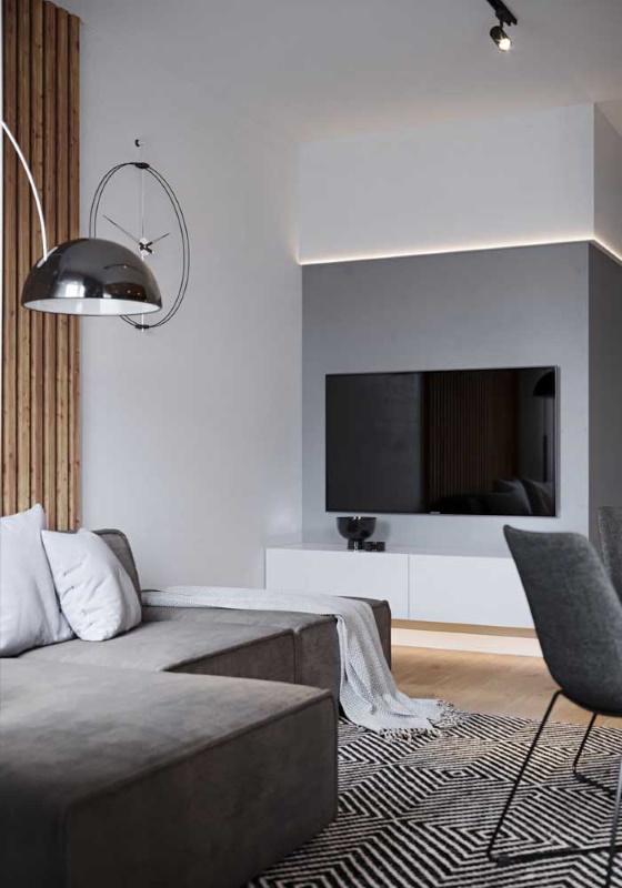 comoda alba minimalista suspendata perete living mic