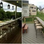 9-constructia unui bar cu scaune inalte pe terasa casei