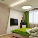 9-constructie din gips carton decor perete si tavan dormitor modern
