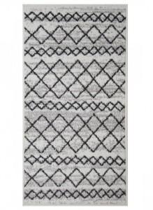 9-covor Oriental Weavers Lotto gri cu imprimeu negru magazin Dedeman