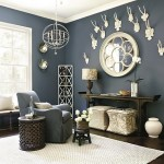 9-covor crem din sisal decor living decorat in bleumarin intens