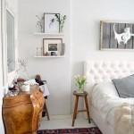 9-covor vechi in decorul unui dormitor alb modern
