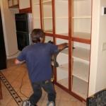 9-curatarea dulapurilor dupa incheierea infolierii cu folie HPL