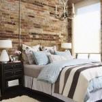9-decor dormitor perete placat cu caramida