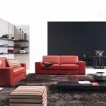 9-decor living modern minimalist in alb si negru accesorizat cu canapele rosii