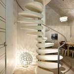 9-design ultramodern scara interioara spiralata cu trepte din marmura pe structura din otel
