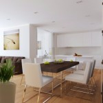 9-dining amenajat intre bucatarie si living in forma literei L open space