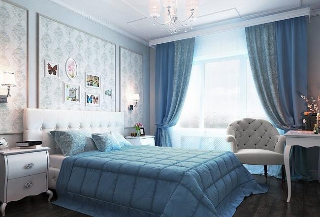 9-dormitor amenajat in culori reci potrivit zodiei Sagetator