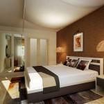 9-dormitor amenajat in maro si crem decor modern elegant