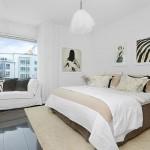 9-dormitor cu iz clasic pardoseala neagra si pereti albi