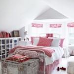 9-dormitor mansardat amenajat in alb si rosu