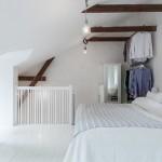 9-dormitor matrimonial amenajat in mansarda apartamentului din duplex