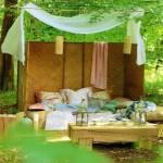 9-dormitor romantic si relaxant amenajat in gradina casei