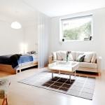 9-dormitor separat de living cu ajutorul unor jaluzele verticale garsoniera