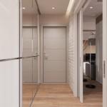9-dressing mare cu usi din oglinzi amenajare hol mic ingust apartament