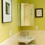 9-dulap de colt pentru baie cu oglinda si spatiu depozitare