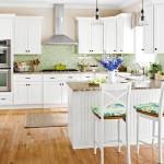 9-dupa renovare bucatarie stil clasic mobila alba decor pereti vernil pardoseala parchet