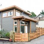 9-exterior casuta 46 mp cu garaj balcon baie bucatarie living si dormitor