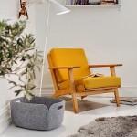 9-fotoliu galben Buttercup decor living modern