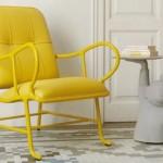 9-fotoliu galben lamaie design retro decor modern