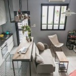 9-idee 2019 amenajare bucatarie mica open space stil industrial apartament