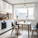 9-idee amenajare bucatarie de bloc cu tapet si mozaic travertin