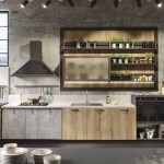 9-idee amenajare bucatarie stil industrial mobila gri cu lemn aspect vintage