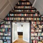 9-idei amenajare biblioteca in mansarda