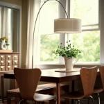 9-lampadar cu picior curbat iluminat loc de luat masa