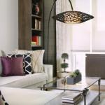9-lampadar cu picior inalt si arcuit decor living modern