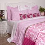 9-lenjerie de pat cu imprimeu decorativ fuchsia