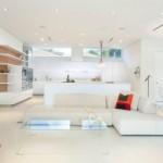 9-living alb amenajat in stil minimalist
