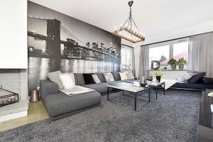 9-living modern apartament decorat in alb negru si gri