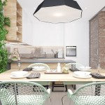 9-loc de luat masa cu vedere spre bucataria moderna minimalista