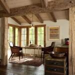 9-loc de luat masa open space casa mica din piatra stil Tudor
