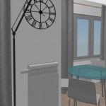 9-loc de luat masa si usa de acces in spatiul de intins rufele
