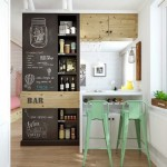 9-loc de luat masa tip bar bucatarie deschisa spre living apartament mic