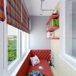 9-loc de relaxare amenajat intr-un balcon lung si ingust de apartament