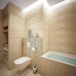 9-masina de spalat integrata in nisa perete baie moderna decorata in bej si crem