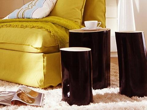 9-masute de cafea in forma de busteni decor living modern
