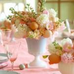 9-mic aranjament floral cu oua decor masa festiva de Pasti