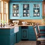 9-mobila albastra bucatarie rustica