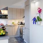 9-mobila bucatarie forma L apartament scandinav 3 camere