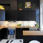 9-mobila culoare neagra bucatarie apartament doua camere